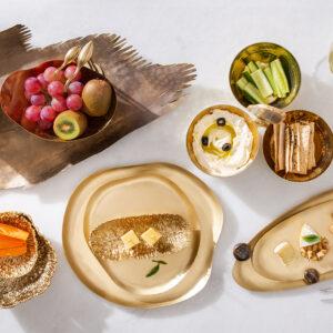 Brass & Wooden Platters & Bowls